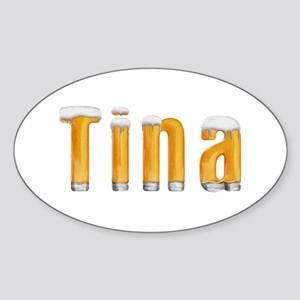 Tina Beer Oval Sticker